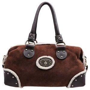 EUC Bally Shearling Brown Suede/Leather/Shear Bag